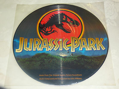 "John Williams: Jurassic Park 12"" Picture Disc Album. 1993 Slight misspress."