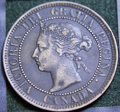 #533# 1884 Canadian Coins Large Cent Queen Victoria