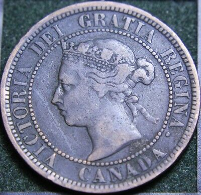 #558# 1887 Canadian Coins Large Cent Queen Victoria