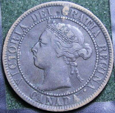 #604# 1893 Canadian Coins Large Cent Queen Victoria