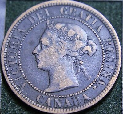 #557# 1887 Canadian Coins Large Cent Queen Victoria