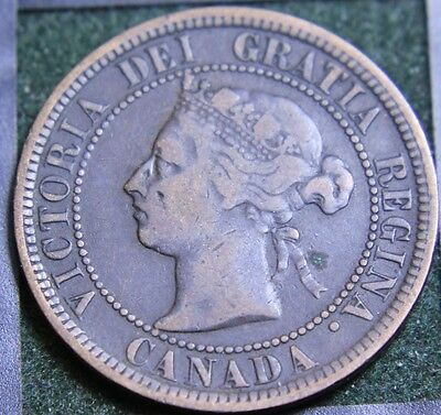 #525# 1882H Canadian Coins Large Cent Queen Victoria