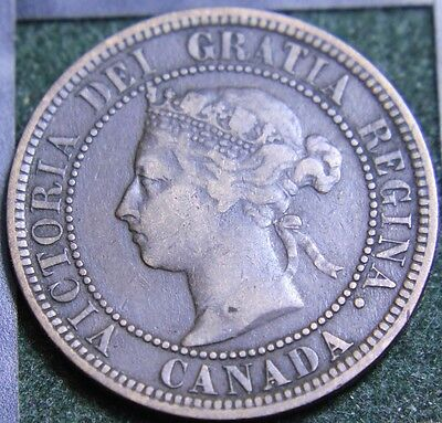 #530# 1882H Canadian Coins Large Cent Queen Victoria