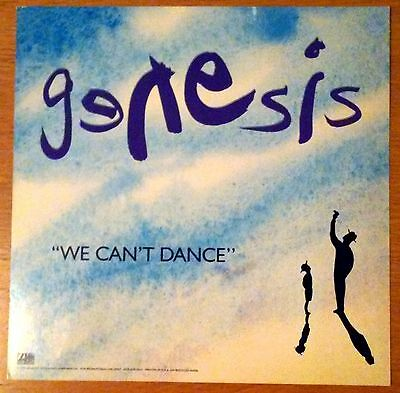 GENESIS - Unused Promo Stand-Up COUNTER DISPLAY - We Can't Dance