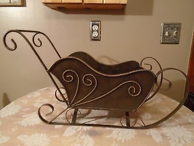 Metal Sleigh Solid All Metal Decorative Sleigh  Large Sled