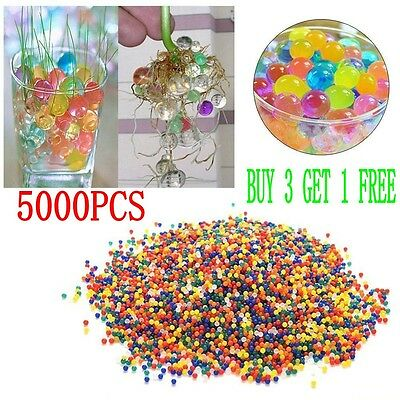 5000pcs Water Balls Crystal Pearls Jelly Gel Bead for Orbeez Toy Refill Color TL
