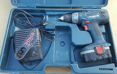 Bosch Brute 18v cordless drill driver battery charger case bundle hammerdrill