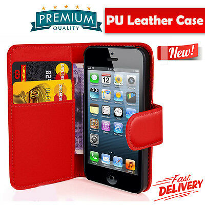 FLIP WALLET Leather  CASE Cover  for Apple iPhone 7 [R081