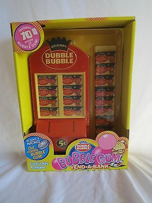 DUBBLE BUBBLE BUBBLE GUM VEND-A-BANK 2001 gum/nostalgia item only  (BH)