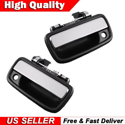 fits 95-04 TOYOTA TACOMA  Pair Front Door Handle LH and RH Truck,Chrome,Outside