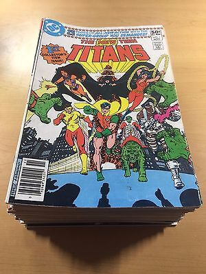 DC NEW TEEN TITANS 1980 #1-70 KEY Deathstroke Lot of 36 + Annual 2-3 Ships FREE!