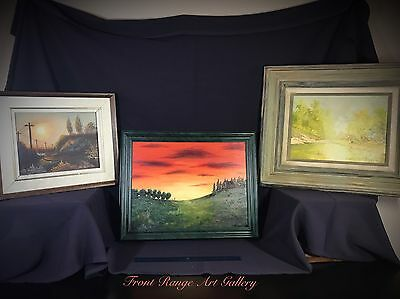 G. Clapper Painting Authentic Original Oil On Canvas Small Signed Landscape