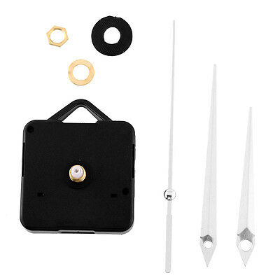 Quiet Silent Quartz Clock Movement Silver Hands Mechanism Tools Set Kit