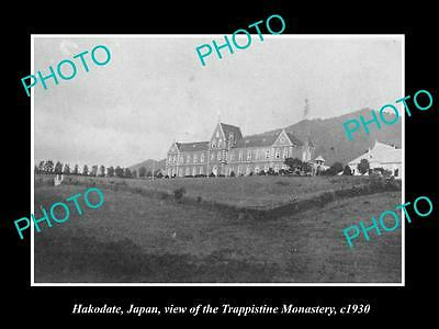 OLD LARGE HISTORIC PHOTO OF HAKODATE JAPAN, THE TRAPPISTINE MONASTRY c1930
