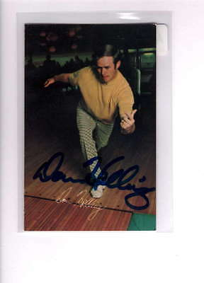 1973 Pba Bowling Don Helling Authentic On Card Autograph Signature Ax2589
