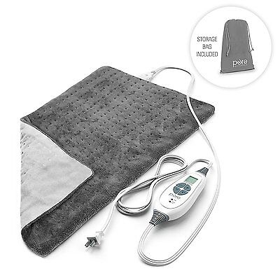 Electric Body Heating Pad Treating Sore Muscle 6 Temperature Setting 12in x 24in