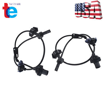 2 pcs Front Right / Left ABS Wheel Speed Sensor Fit for 06-11 Honda Civic