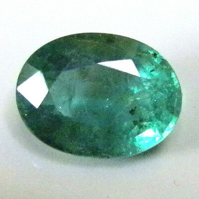 All Natural earth-mined Zambian oval shaped green emerald ..1.2 carat... No oil!
