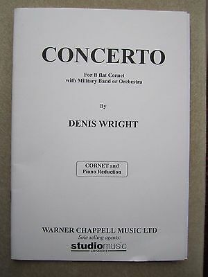 Concerto for Bb Cornet and piano by Wright *NEW* Warner Chappell Music