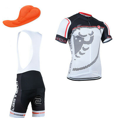 au-58 Bike Race Fashion short sleeve Mens cycling jersey bib shorts set Race Fit