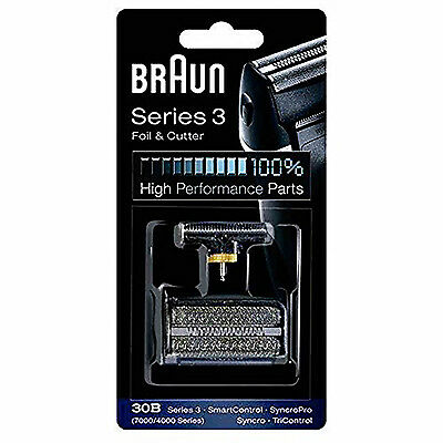 Braun 30B Electric Mens  Shaver Replacement Foil and Cutter Black New Uk