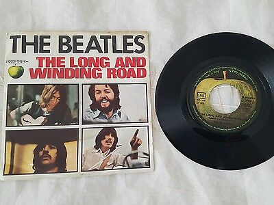 45 giri the beatles - the long and winding road - for you blu