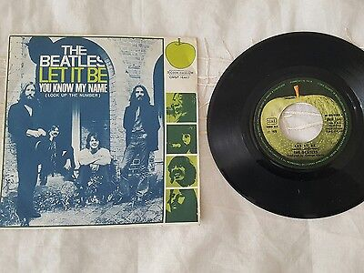 45 giri the beatles - let it be - you know my name