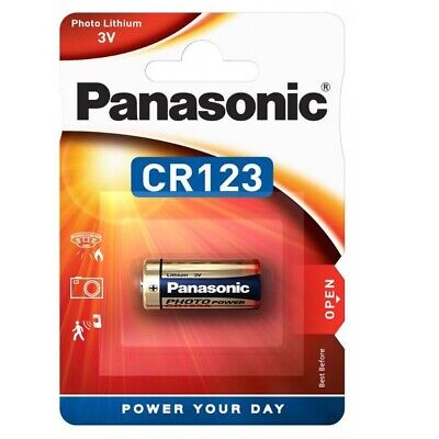 1x Pila Panasonic CR123 3V LITIO CAMARA FOTO123A DL 123A EL CR123AP BATTERY