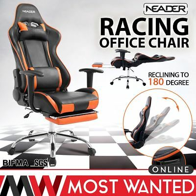 Neader Racing Office Chair High Back Adjustable Reclining Footrest Gaming Seat