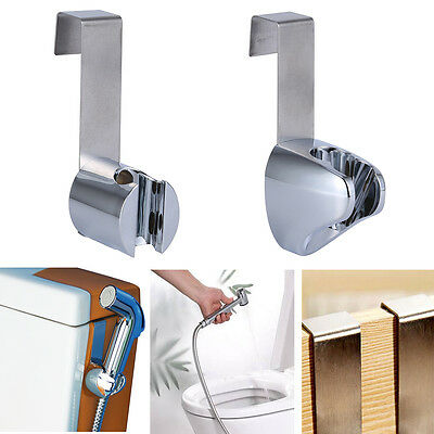 Stainless Steel+ABS Toilet Bidet Bathroom Sprayer Spray Gun Holder Hook Hanger A