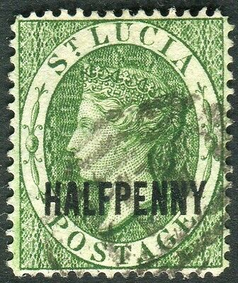 ST LUCIA-1881 ½d Green.  A fine used example Sg 23