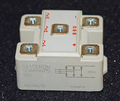 Semikron Three Phase Bridge Rectifier Skd100/12