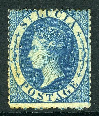 ST LUCIA-1860 4d Blue.  A mounted mint example Sg 2