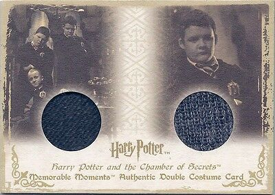 HARRY POTTER Memorable Moments Double Costume Card DC4 - Gregory Goyle