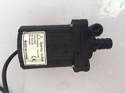 2pcs 24V DC Small Water Pump, 40H-24110,11M, 450LPH Water Cycle SYS Submersible