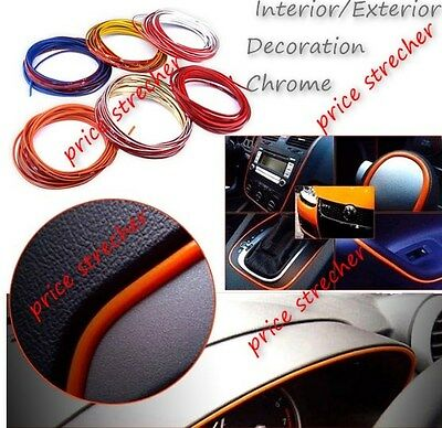 5M Universal Car Grille Interior Decoration Chrome Styling Molding Trim Strips