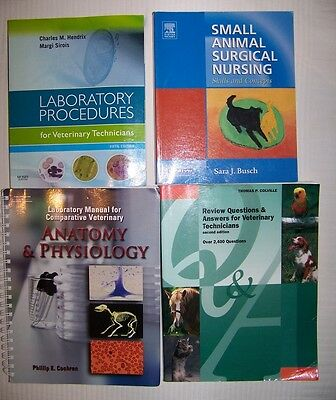 Lot of 4 Veterinary Books Excellent condition