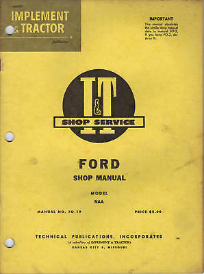 ford naa golden jubilee tractor service shop repair manual engine rh picclick com