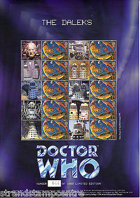 BC-027a - Doctor Who - The Daleks Smilers Stamp Sheet (UN-NUMBERED)