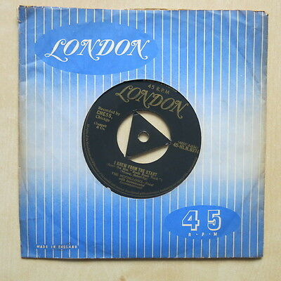 """THE MOONGLOWS I Knew From The Starts UK gold London tri-centre 7"""" HLN 8374"""