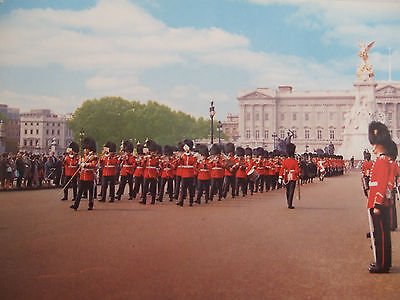 Vintage Military Postcard -Guards Marching In The Mall