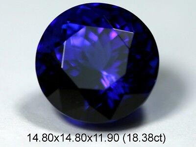 Quality NATURAL 18.38 ct   ROUND   TANZANITE    Violet Blue AAA+++ GEM