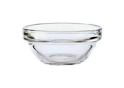 6 Small Clear Glass Stacking Sauce Dips Serving Bowl Dish 6cm Diameter