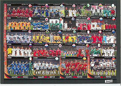 64423  - SIERRA LEONE - FOOTBALL: SOUTH AFRICA 2010 set of 32 stamps! VERY NICE!