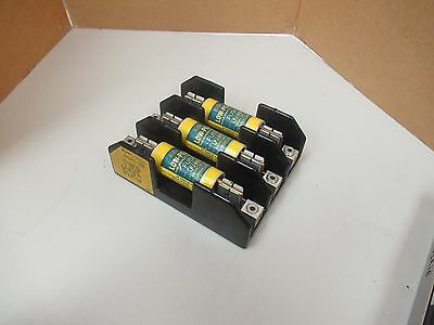 Bussmann Fuse Holder J60100-3Cr 600V Volts 100A A Amps 3 Pole W/ Fuses Lpj-80Sp