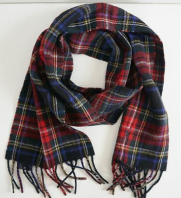 NWT Authentic POLO RALPH LAUREN TARTAN Pattern WOOL Blend Scarf ITALY