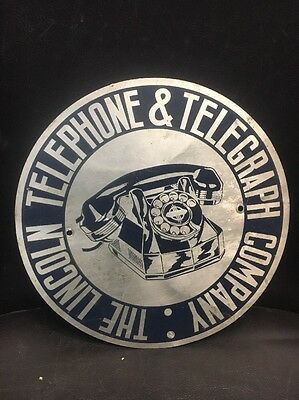 Lincoln Telephone And  Telegraph Co Telephone Sign Phone Sign Truck Sign