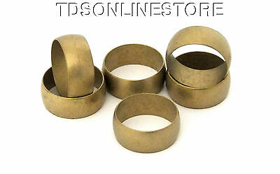 """Raw Domed Solid Brass Ring Blanks 3/8""""  Wide Size 13  Pkg Of 6"""