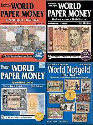 2018 Catalogs of World Paper Money 1368 - Present + World Notgeld 1914-1947
