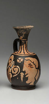 Ancient Apulian Lady of Fashion oinochoe Jug Ca. 350 BC.